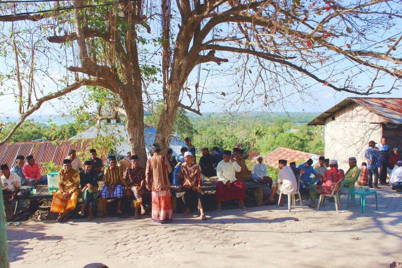 Read prayer event in wakatobi island, Indonesia royalty free stock photos