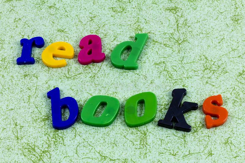 Read story books reading habit learning success education royalty free stock image