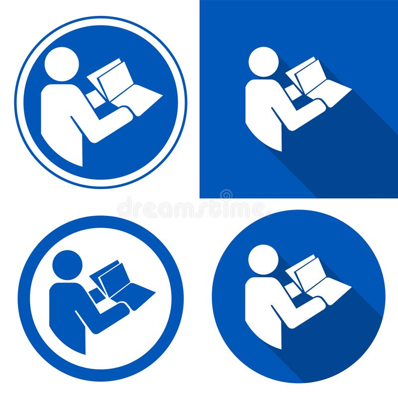 Read Technical Manual Before Servicing Symbol Sign Isolate on White Background,Vector Illustration EPS.10. Service, worker, hand, job, maintenance stock illustration