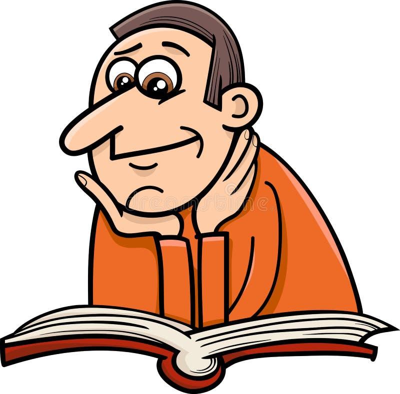 Cartoon Characters Reader : Reader man cartoon illustration stock vector