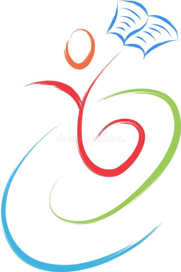 Reader symbol education logo vector illustration