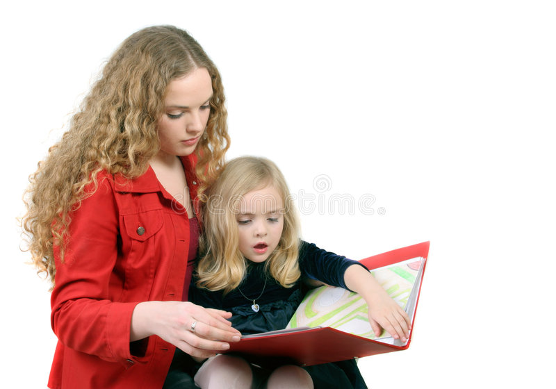 Download Readig together stock photo. Image of paintings, mother - 4437048