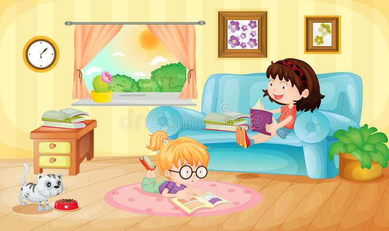 Reading royalty free illustration