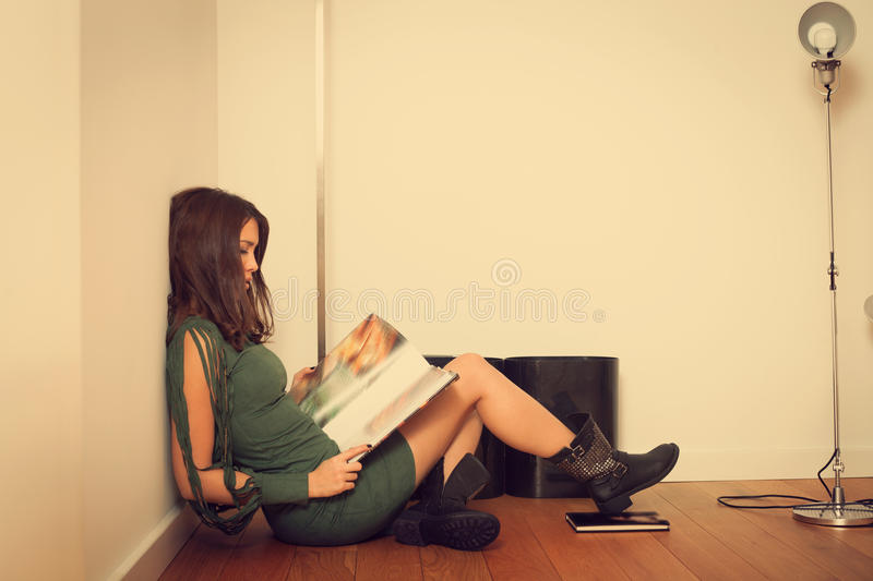 Download Reading stock image. Image of young, view, full, fashion - 29439701