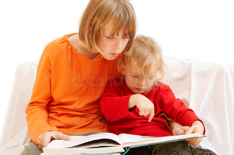 Download Reading stock image. Image of siblings, education, sisters - 3348669