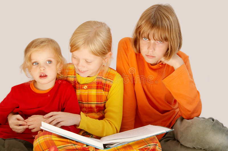Download Reading stock photo. Image of study, library, sister, child - 3400168