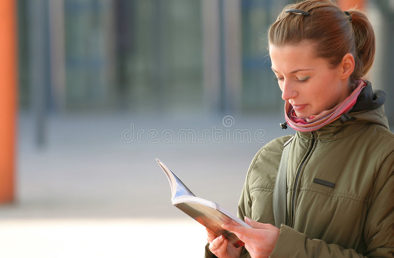Download Reading stock image. Image of hair, eyes, model, book, looking - 47615