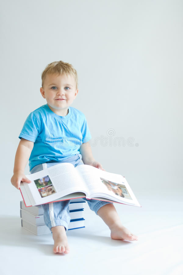 Download Reading baby stock photo. Image of funny, male, innocent - 11708136