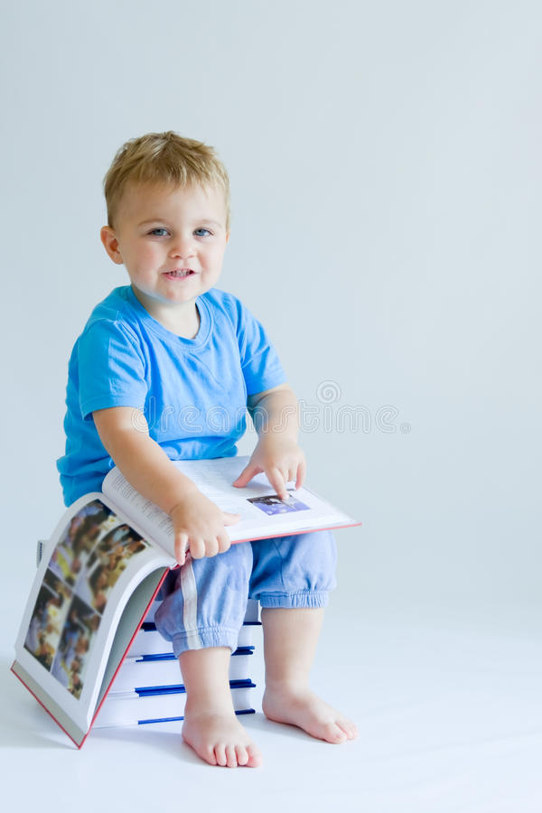 Download Reading baby stock image. Image of pile, toddlers, expressive - 11708169