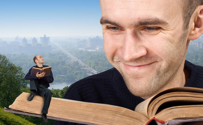 Reading the bible stock photos