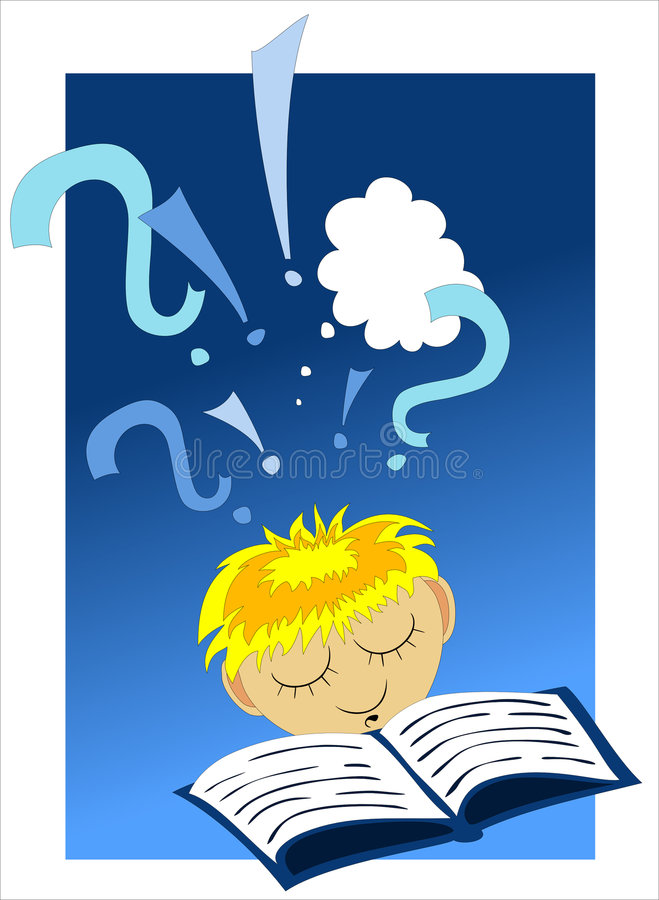 Reading a book stock illustration