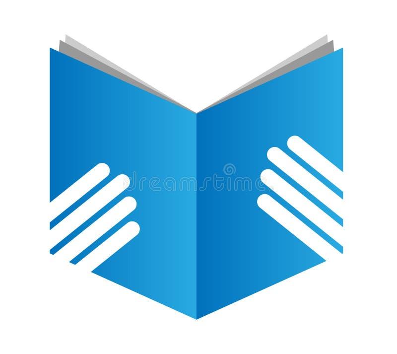 Reading book. Illustration of reading book on white background stock illustration