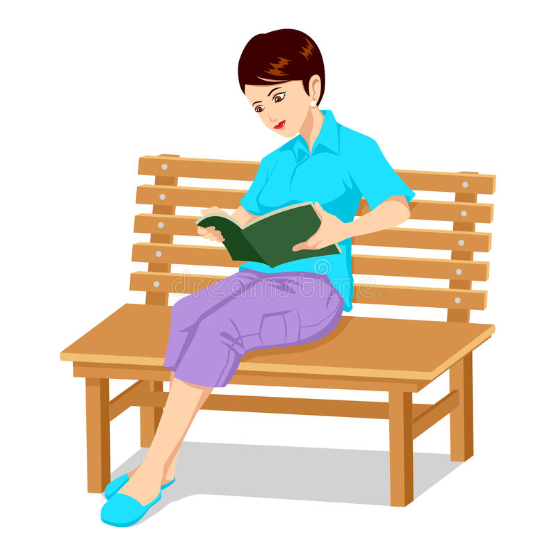 Download Reading A Book stock vector. Illustration of person, female - 20604957