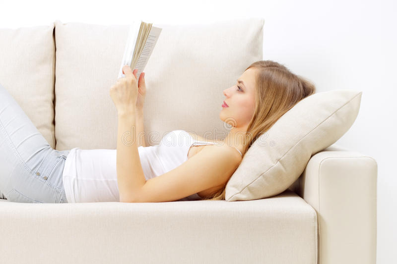 Download Reading a book stock image. Image of teen, lady, read - 23111913