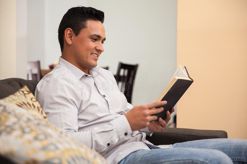 Download Reading A Book At Home Stock Photo - Image: 41160277
