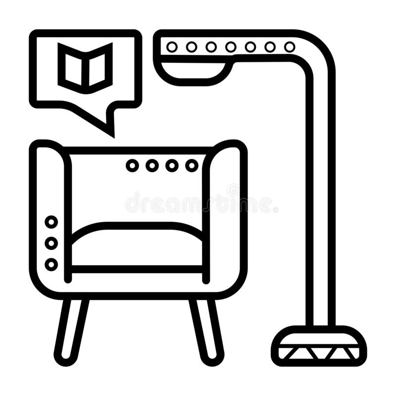 Reading a book icon royalty free illustration