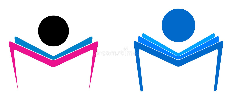 Reading book. Simple illustration of reading book logo vector illustration