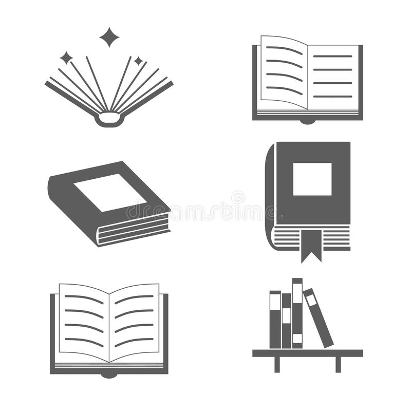 Reading Books Signs And Symbols Icons Template On Stock Vector ...