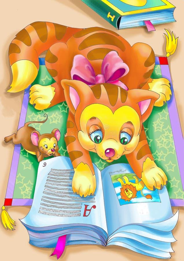 Reading Cat Royalty Free Stock Image