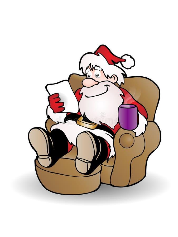Reading Christmas wish list stock photos