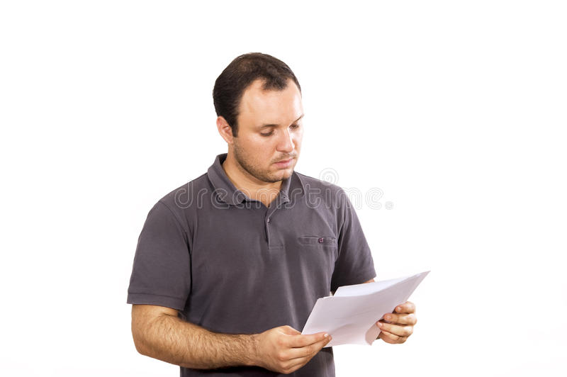 reading document stock image