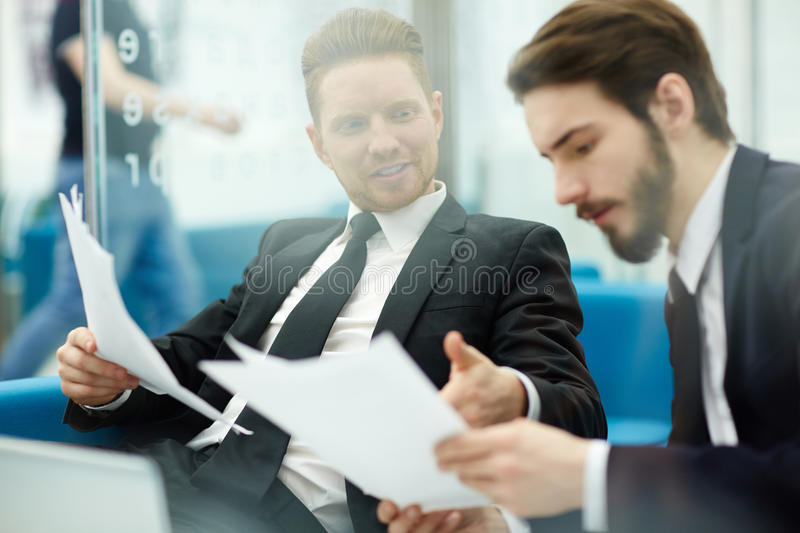 Reading document stock images