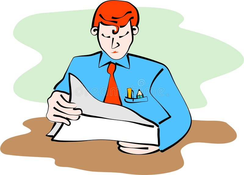 Reading documents vector illustration