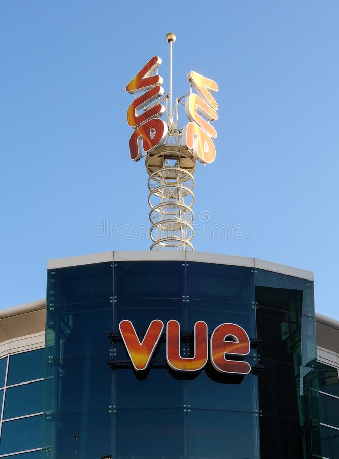 Vue Cinema Reading royalty free stock image