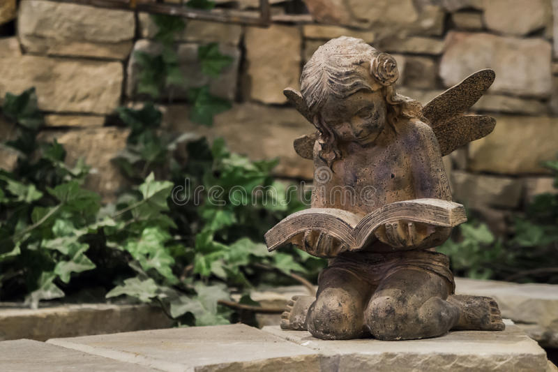 Download Reading Fairy Garden Statue Stock Image   Image Of Feminine,  Earthy: 73510597