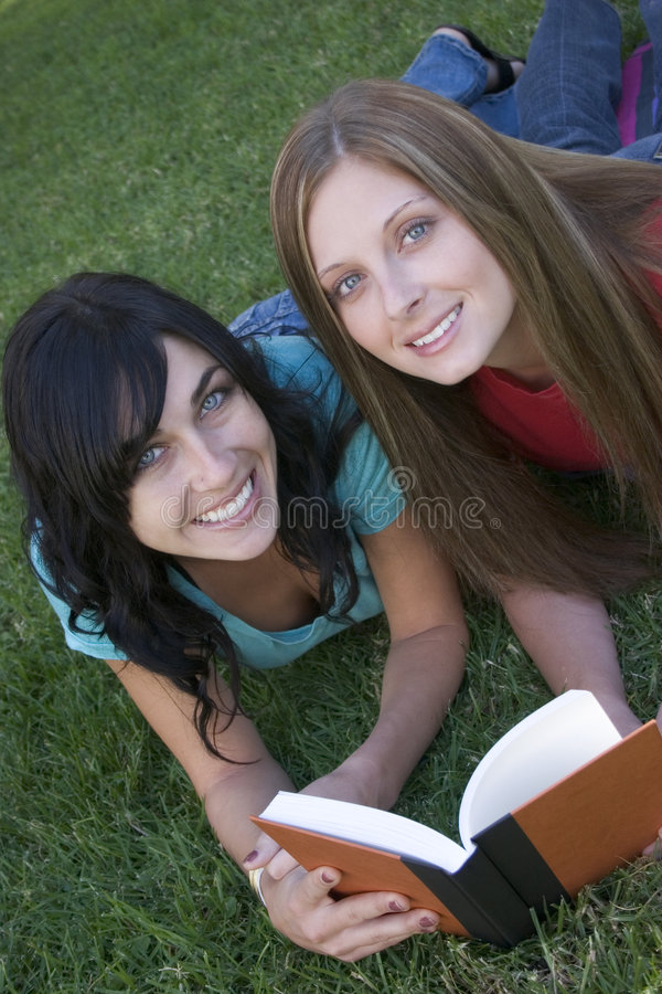 Reading Friends stock image