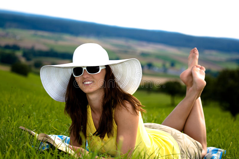 Download Reading girl stock photo. Image of literature, girl, book - 10559298