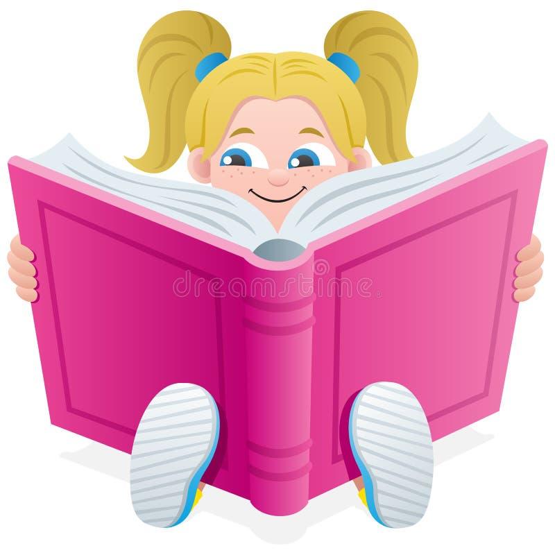 Reading Girl royalty free illustration