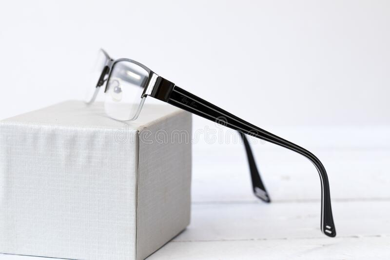 Reading glasses. Put on a box royalty free stock images
