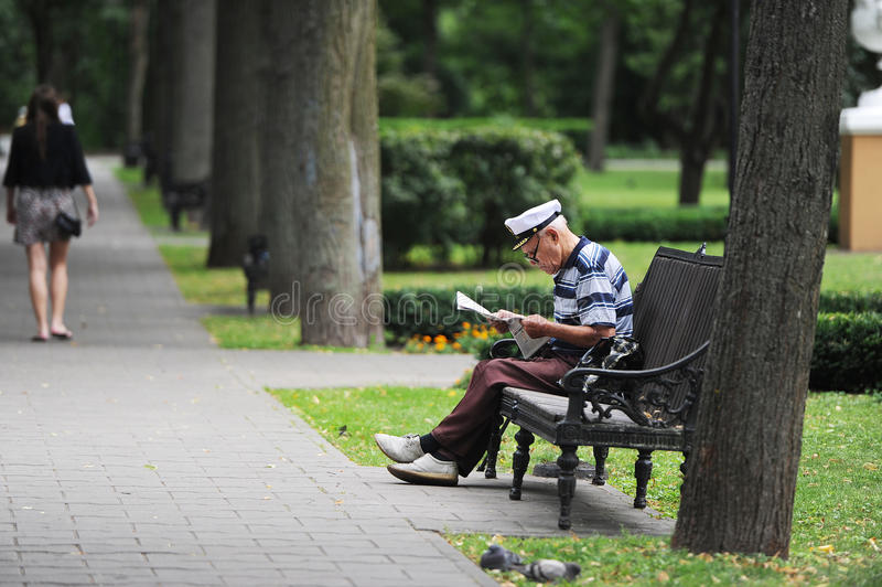 Download The reading grandfather stock photo. Image of seniors - 39512772