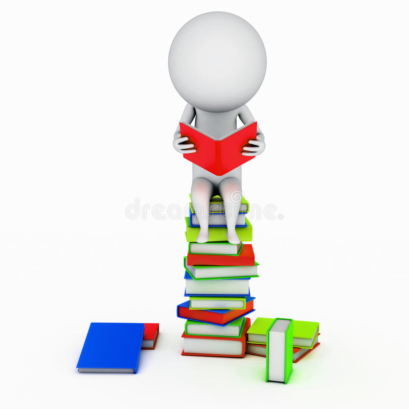 Download Reading guy stock illustration. Image of staple, simple - 23710618