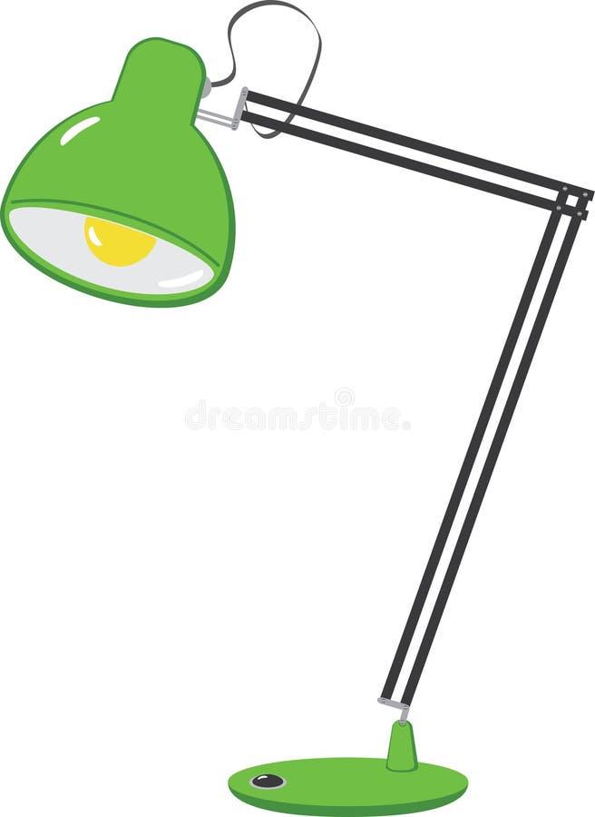 Reading lamp stock illustration