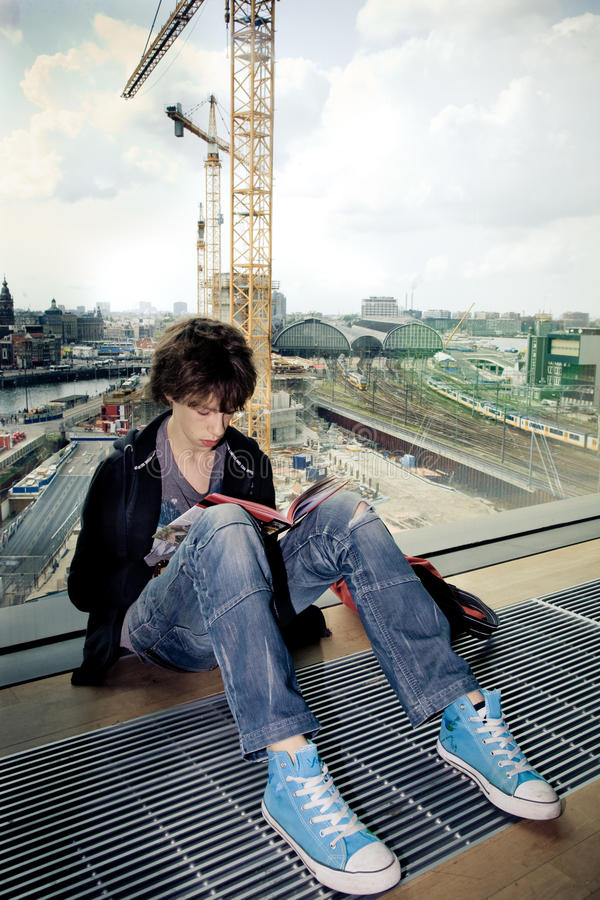 Download Reading in a library stock photo. Image of station, casual - 11464400