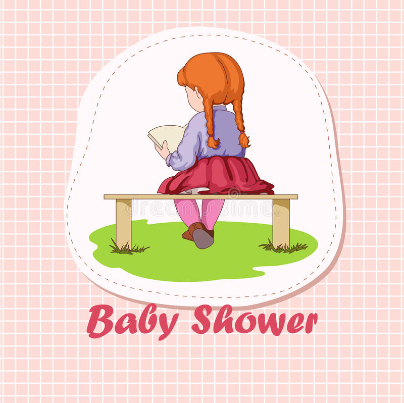 Download Reading little girl stock vector. Image of book, icon - 30426544