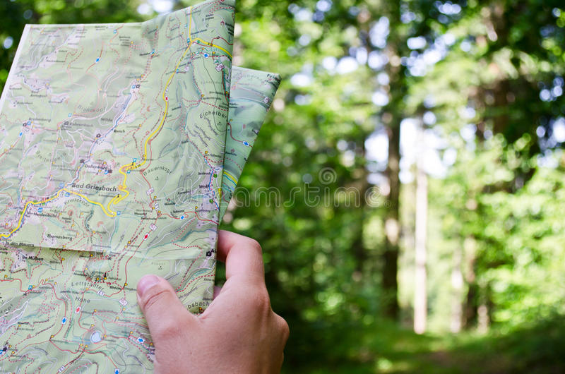 Download Reading a map stock photo. Image of adult, directions - 26307654