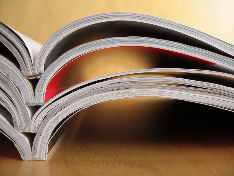 Reading Materials 5. A stack of reading materials stock image