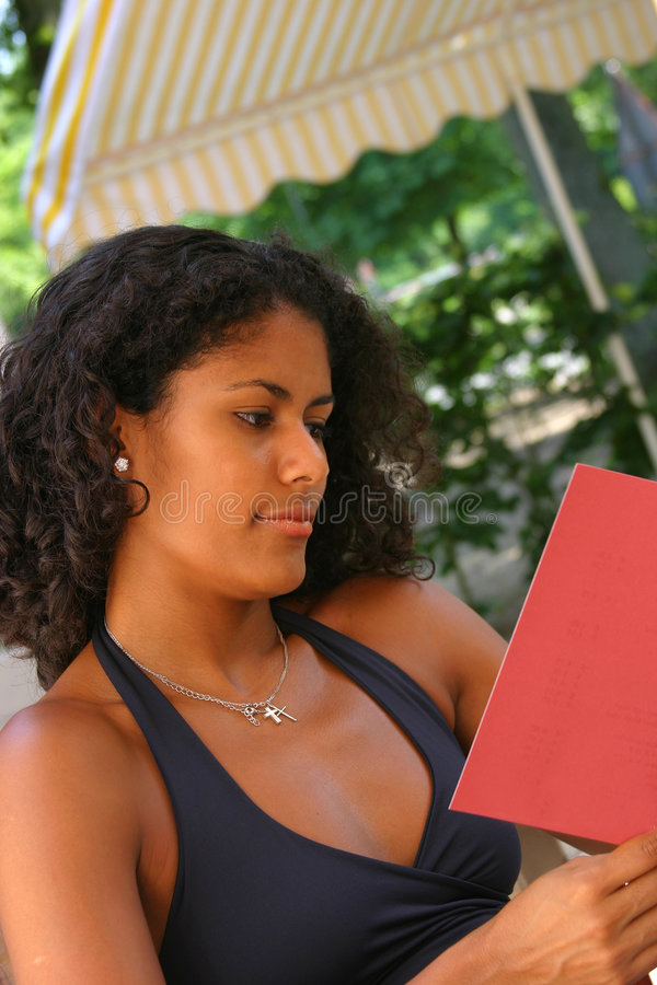 Download Reading the menu I stock image. Image of adult, reading - 172343