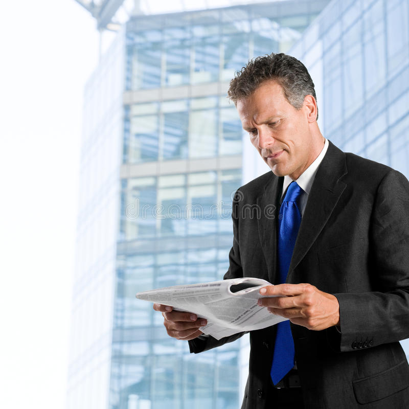 Download Reading morning news stock photo. Image of break, handsome - 9914928