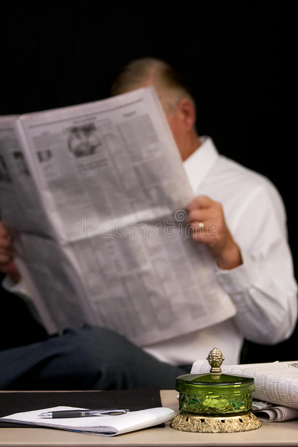 Download Reading Newspaper stock image. Image of office, business - 10631461