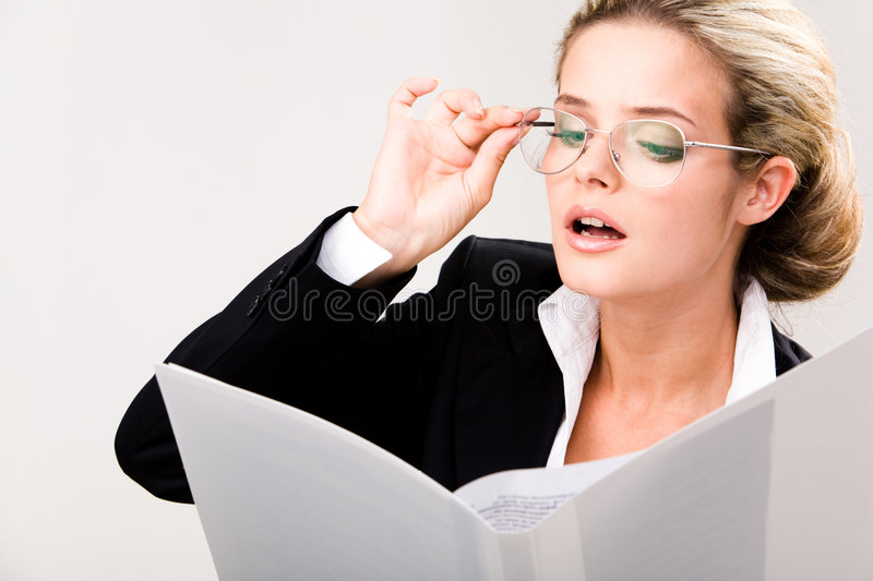 Reading Papers Stock Photos