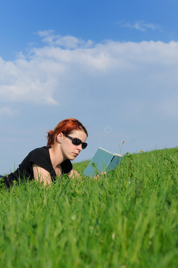 Reading Recreation Nature Stock Photos