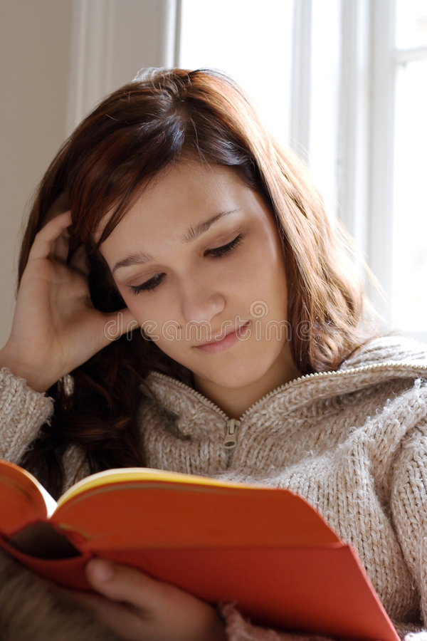 Reading and relaxing stock photography