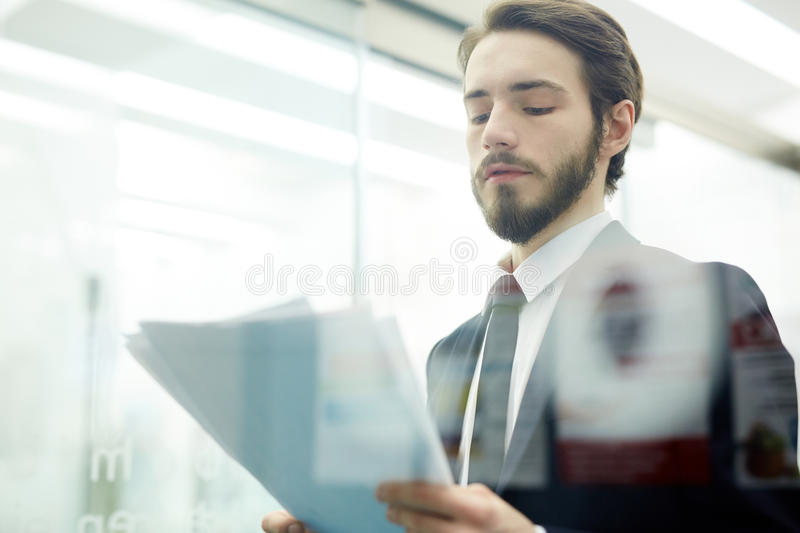 Reading report royalty free stock images