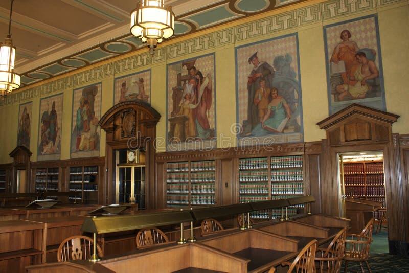 Law Library Reading Room, Ohio Judicial Center, Supreme Court of Ohio, Columbus Ohio. The reading room of the law library in the Ohio state Supreme Court stock image