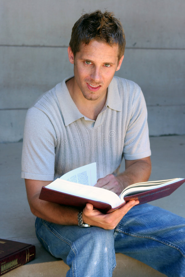 Download Reading Student Stock Photo - Image: 1215130
