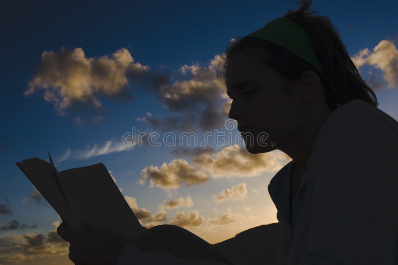 Download Reading at sunset stock image. Image of culture, holiday - 498087